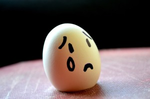Eggs can be sad sometimes too, especially baby eggs.