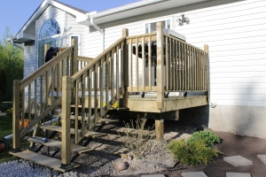 My pretty new deck. (Now I don't have to get Jack to boost me into the house by my butt).